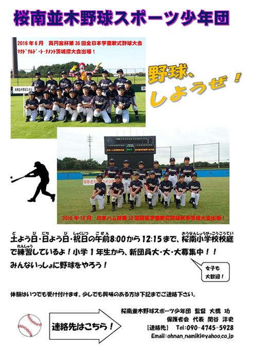 桜南並木少年スポーツ野球団